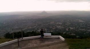 Панорама Пятигорска. Вид с горы Машук.