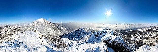 Снежные вершины Бештау