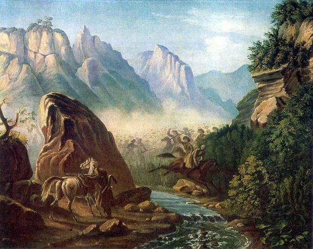 Таким видел Березовское ущелье М. Ю. Лермонтов.