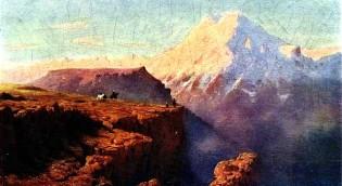 Картина М.Ю. Лермонтова - Эльбрус на восходе солнца.