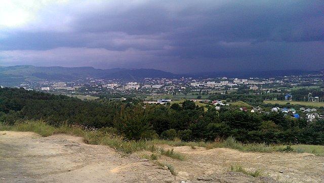 Вид на Кисловодск с горы Кольцо.