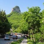 Вид но гору Медовую с окраины Пятигорска