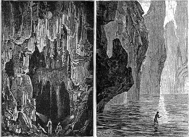 Таким свое путешествие видел Жюль Верн. Рисунки из книги Жюль Верна – Путешествие к центру земли.
