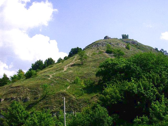 Дорога к вершине горы Лысой.