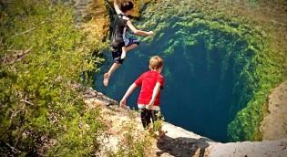 Колодец Иакова - прыжок в бездну, фото.