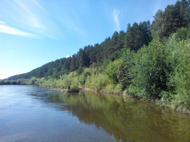 по реке Ирень