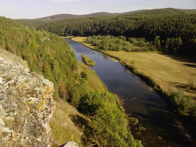 Река Ирень вид с Марьинного утеса